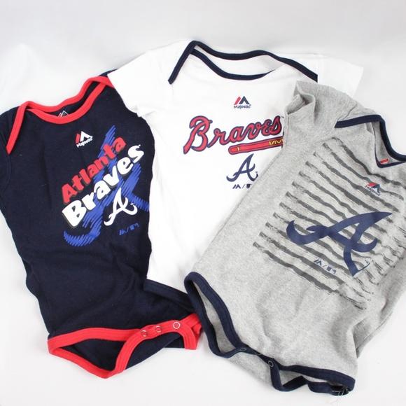 MLB Atlanta Braves Baby Bodysuit and Shorts 2-Piece Set Size 0-3 Months